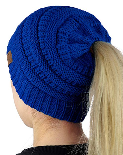 CC Top Knot Beanie- 2 Colors