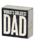 Greatest Dad Box Sign