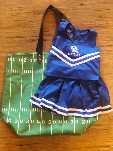 UK Cheer Dress 3 Piece-Blue Top