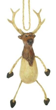 Dangly Elk Ornament