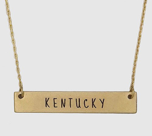 Kentucky Bar Necklace--2 Colors