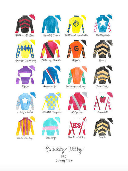 Kentucky Derby 143 Silks Print