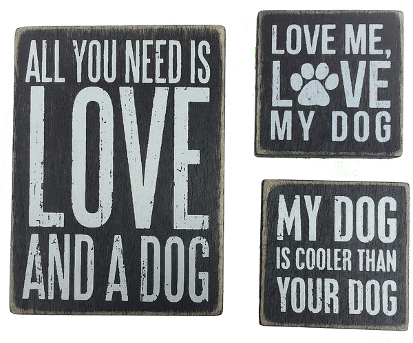 Love My Dog Magnet Set