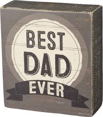 #1 Dad Box Sign