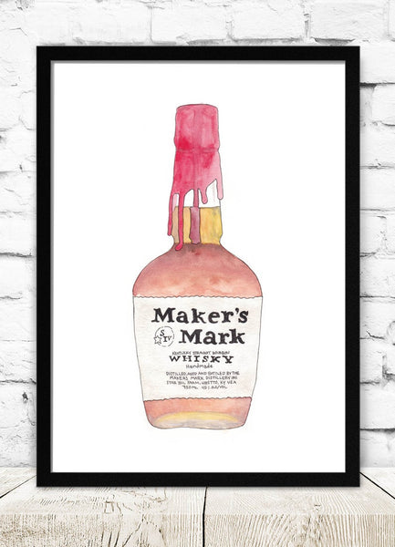 Maker's Mark Bottle Art Print