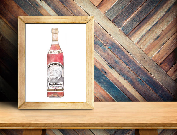 Pappy Bottle Art Print (23 Year)