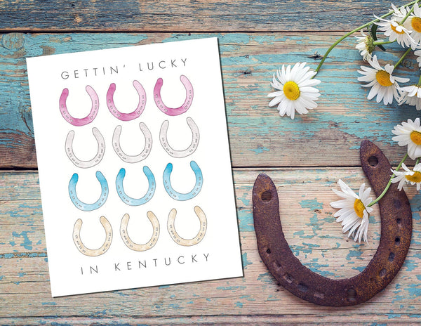 Gettin' Lucky in Kentucky Print