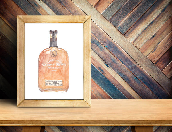 Woodford Reserve Bottle Art Print