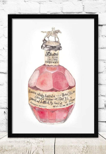 Blanton's Bottle Art Print
