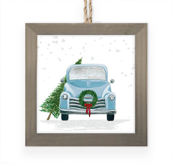 Vintage Truck Framed Ornament