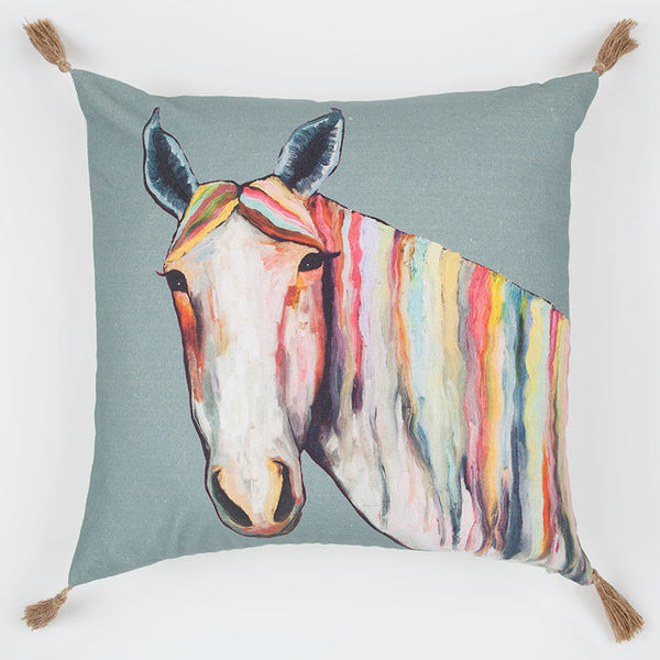 Horse in Color Pillow