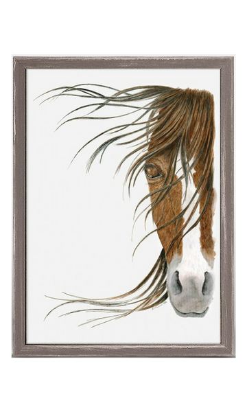 Horse Portrait Mini Framed Canvas