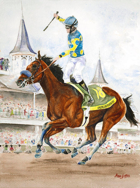 American Pharoah Watercolor Print