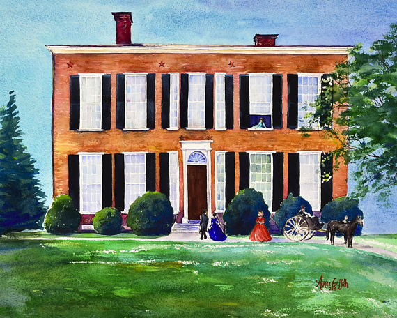 My Old Kentucky Home Watercolor Print