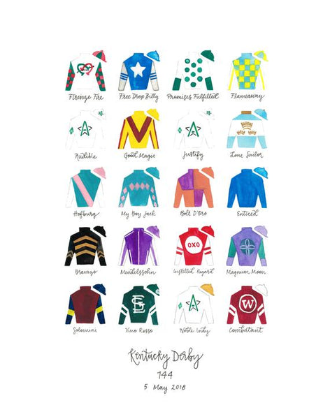 Kentucky Derby 144 Silks Print