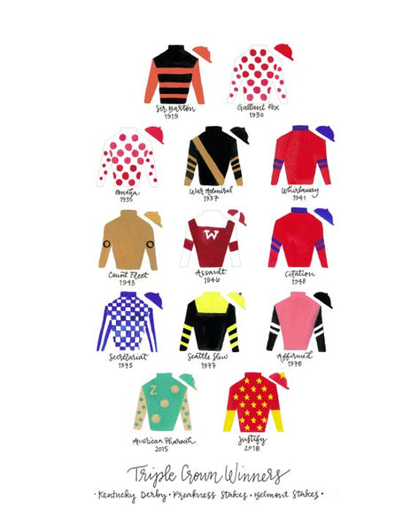 Triple Crown Winner Silks Print 2018