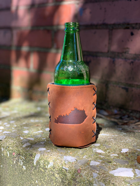 Leather Kentucky Koozie