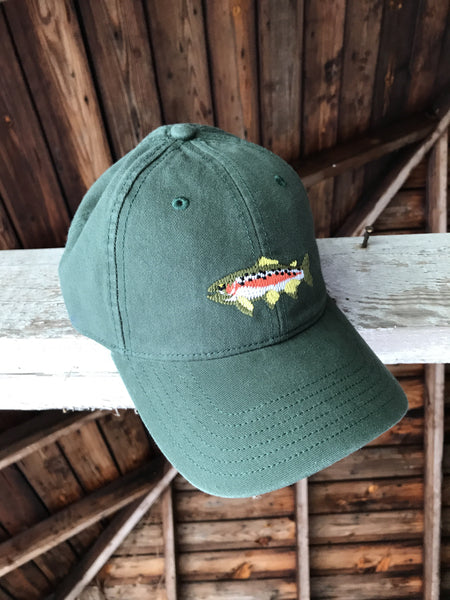 Trout Needlepoint Hat