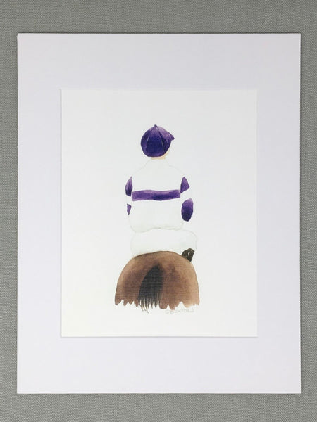 Lone Jockey Matted Print-- 3 Colors