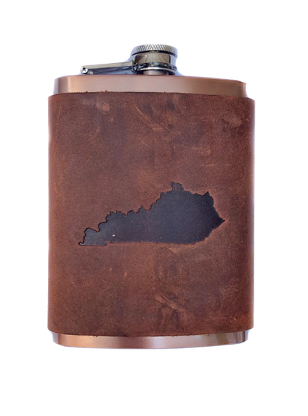 Leather Kentucky Flask