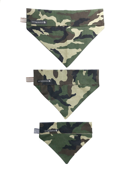 Camo Dog Bandana--3 Sizes