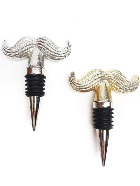 Mustache Bottle Stopper