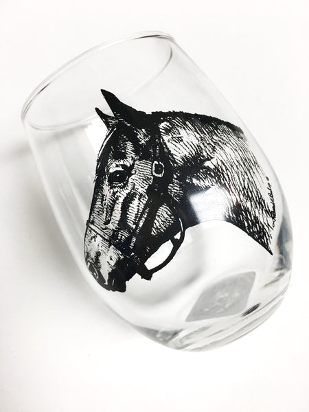 Secretariat Stemless Wine Glass