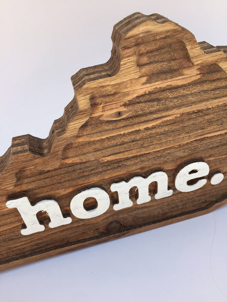 Kentucky Home Wood Sign
