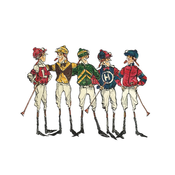 Jockeys Paddock Motif Print - Red