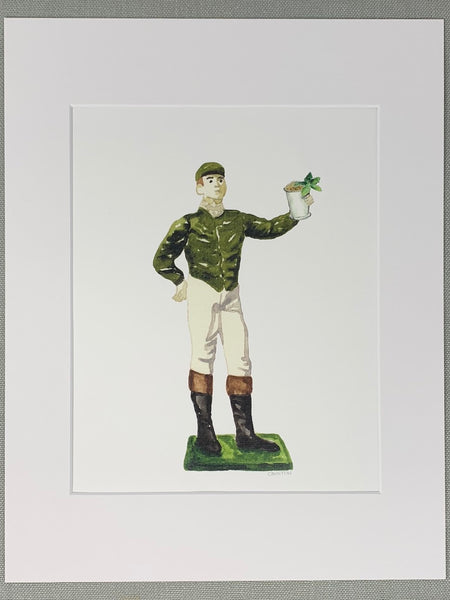 Lawn Jockey with Julep Print