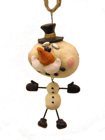 Dangly Snowman Ornament