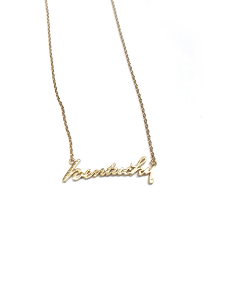 Kentucky Script Necklace