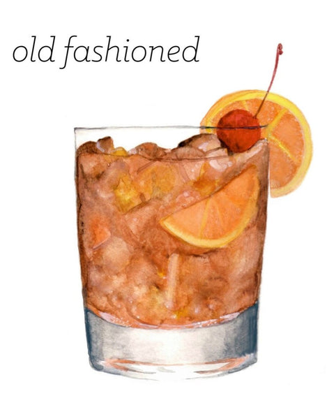 Old Fashioned Orange Slice Print