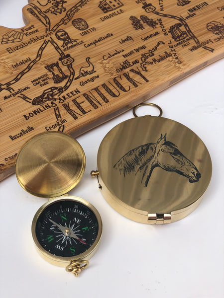 Mini Horse Head Compass