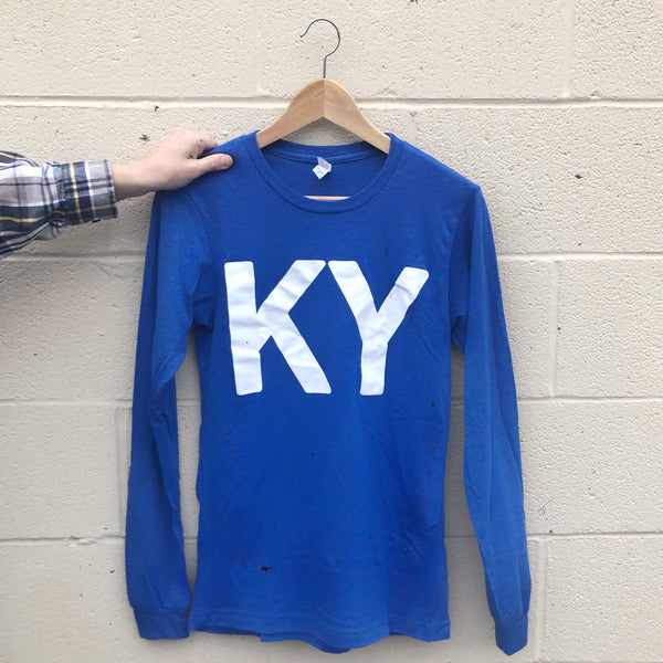K Y Long Sleeve Tee - Royal