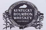 Bourbon Label Postcard