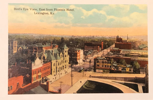 Aerial View Lexington Postcard