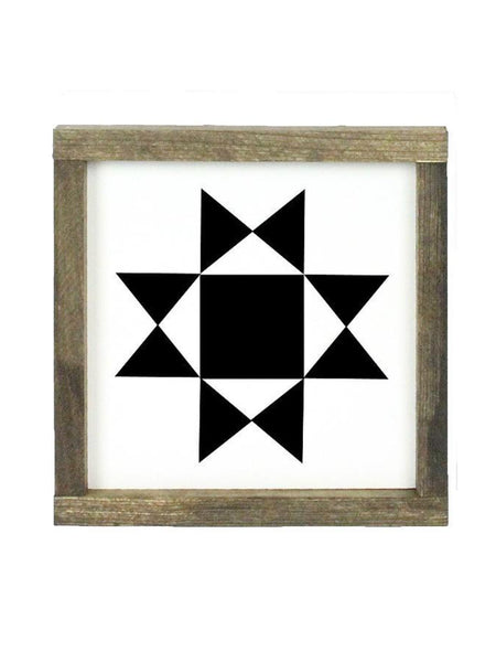 Framed Black Quilt Square