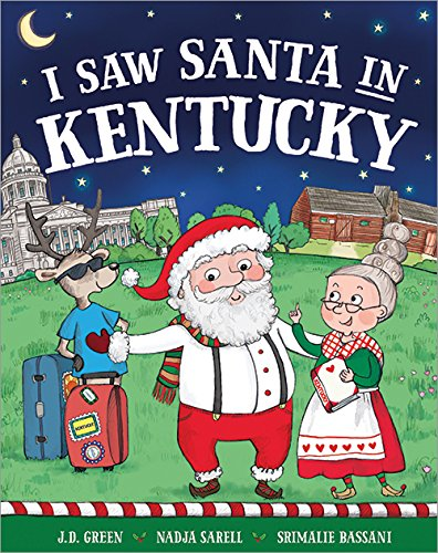 I Saw Santa In Kentucky Board Book