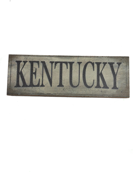 KENTUCKY Wood Magnet