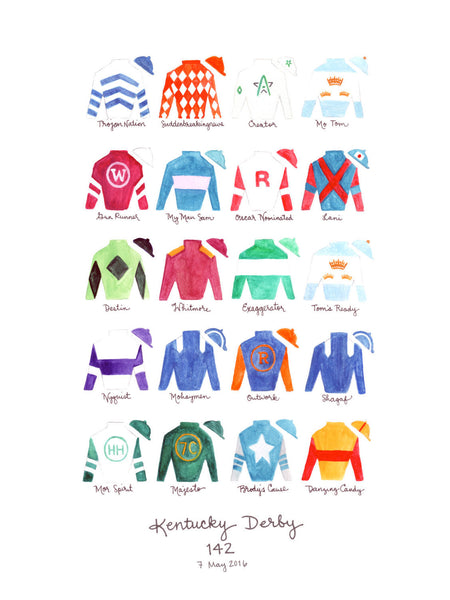 Kentucky Derby 142 Silks Print