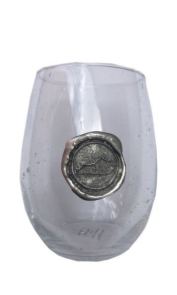 Pewter Stamped Wine Glass - KY