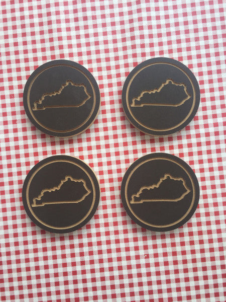 KY Wood Coaster Set