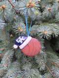 Santa Hat UK Basketball Ornament