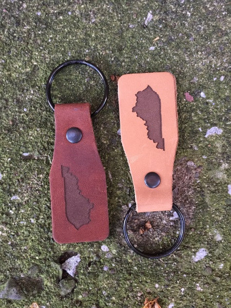 Leather KY Key Tag