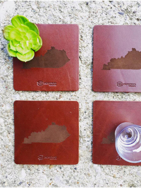 Saddle Collection: Leather KY Coasters