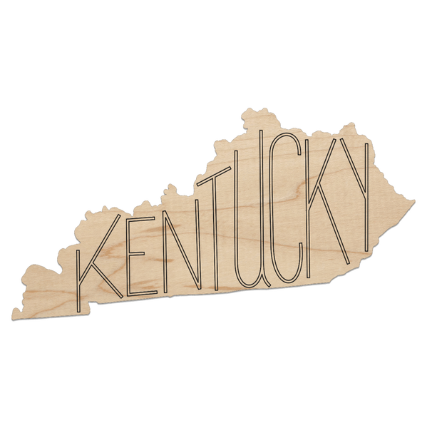 Kentucky State Cut-Out Coaster