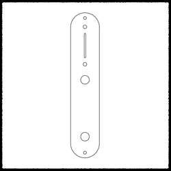 Telecaster Standard Main Control Plate