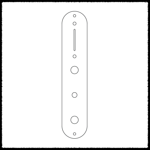 Telecaster Plus Main Control Plate