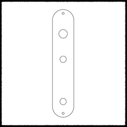 Telecaster Toggle Switch Main Control Plate